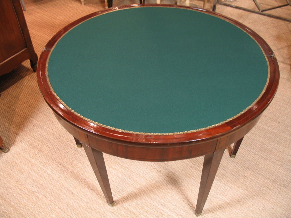 French directoire demi lune card table for sale at 1stdibs - Table cuisine demi lune ...
