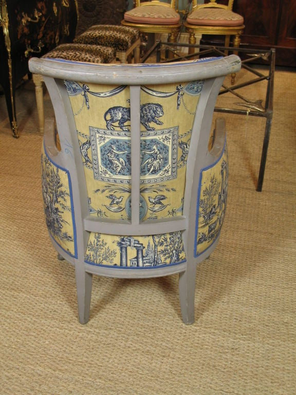 French Directoire Period Bergere In Good Condition For Sale In Pembroke, MA