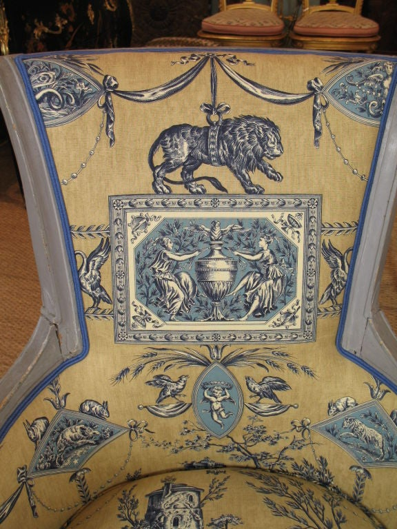 18th Century French Directoire Period Bergere For Sale