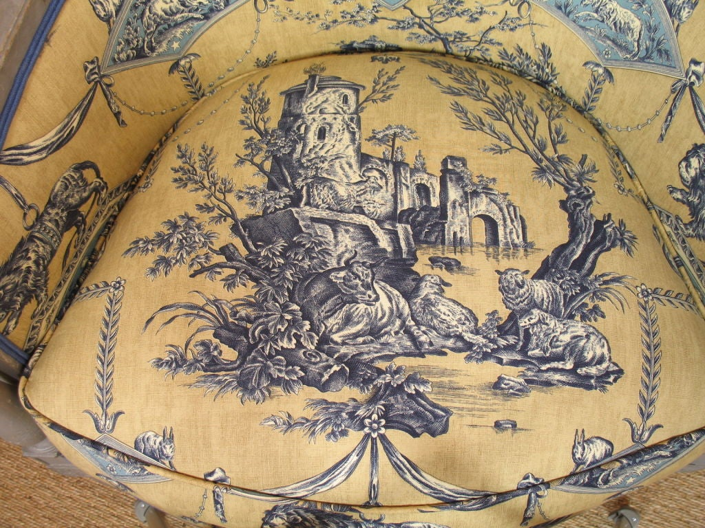 Upholstery French Directoire Period Bergere For Sale