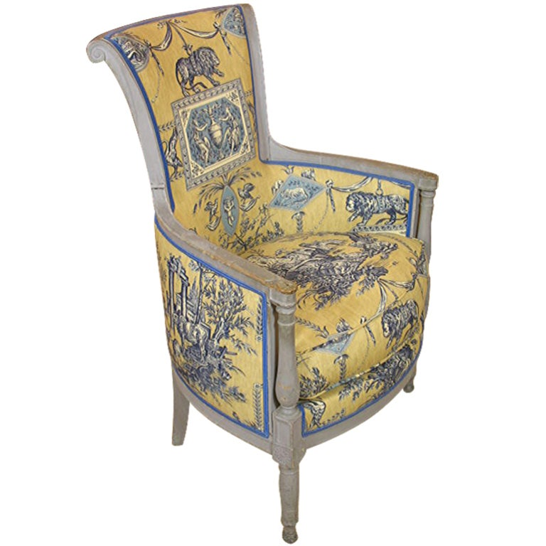 French Directoire Period Bergere For Sale