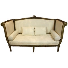 French Highly-Carved Louis XVI Style Sofa