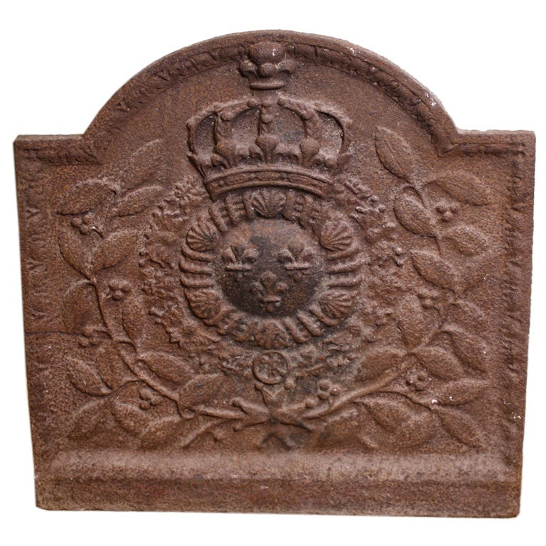 French Cast Iron Fireback