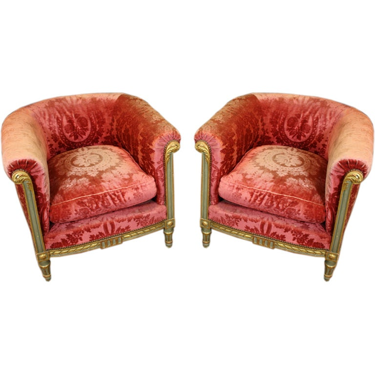 Pair of French Napoleon III Bergeres