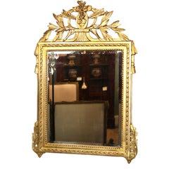 French Louis XVI Period Giltwood Mirror