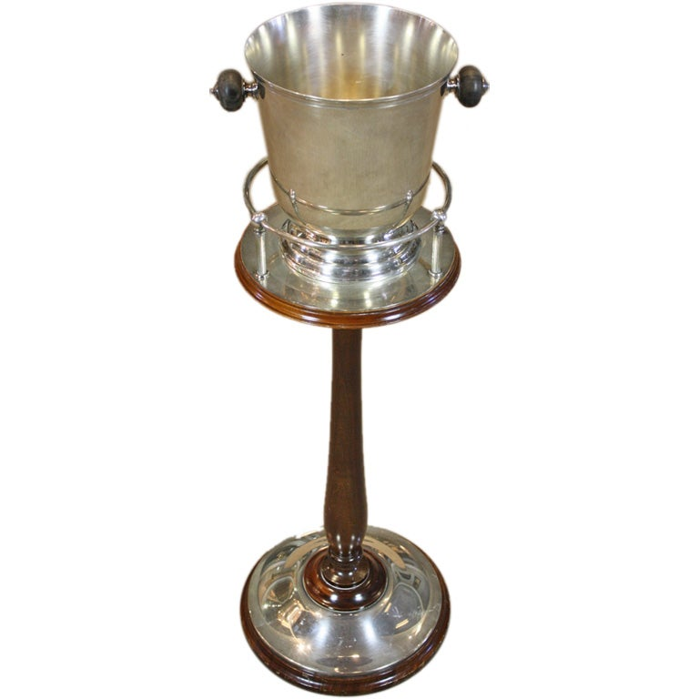 Silver Champagne Bucket On Stand By Christofle At 1stdibs