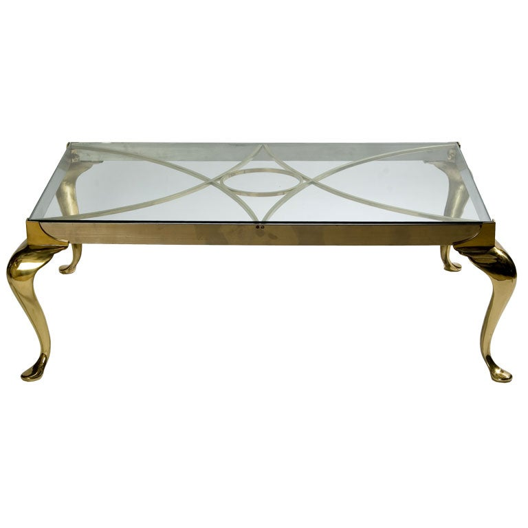 Brass And Chrome Coffee Table At 1stdibs