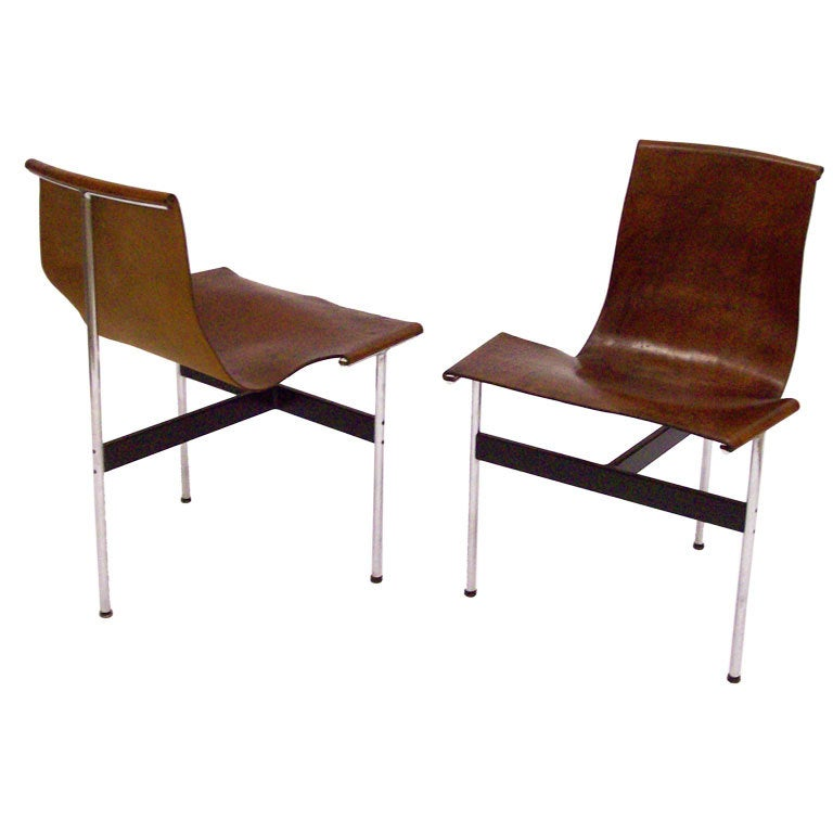 Pair Of Katavolos Leather Sling T Chairs At 1stdibs