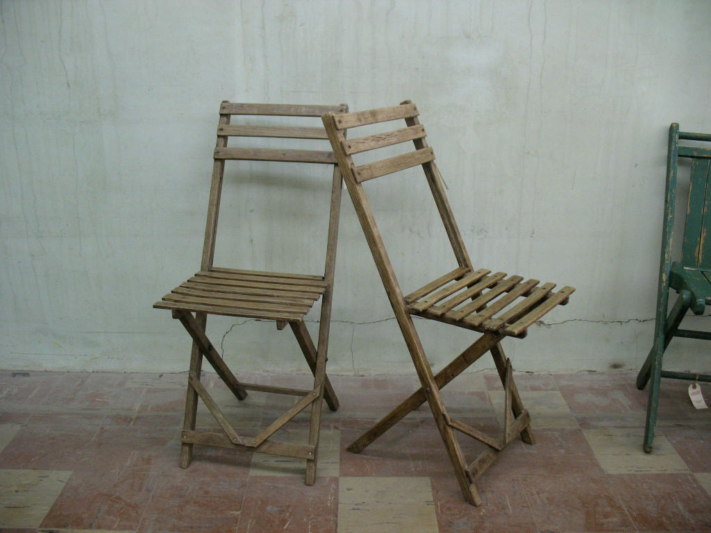 Antique Wood Folding Chairs at 1stdibs