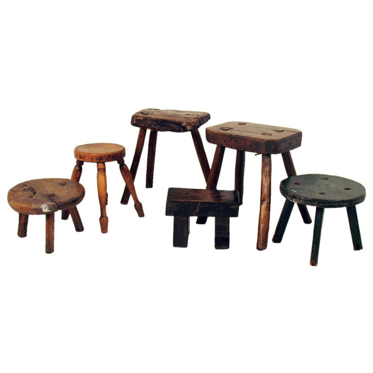 Assorted Wood Stools At 1stdibs