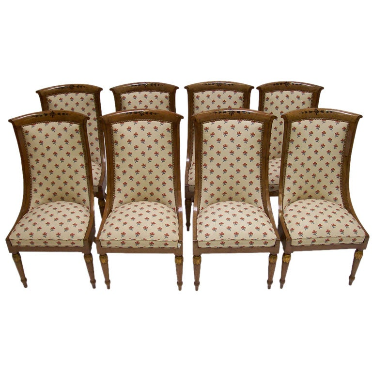 set of eight empire dining chairs at 1stdibs
