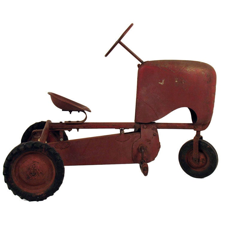 Junior Pedal Tractors Antique : Vintage bmc push pedal tractor at stdibs