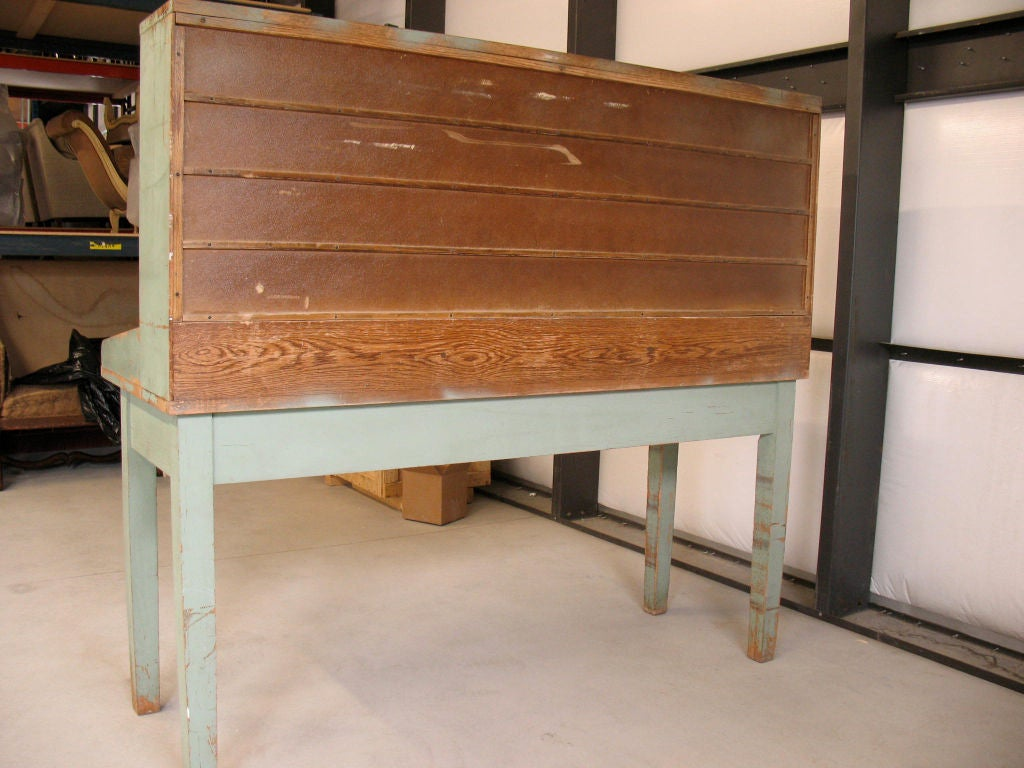 Vintage Oak Post Sorting Table At 1stdibs