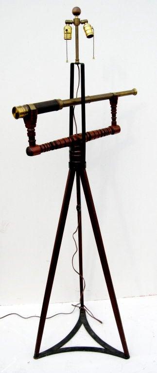 Unusual Telescope Floor Lamp At 1stdibs