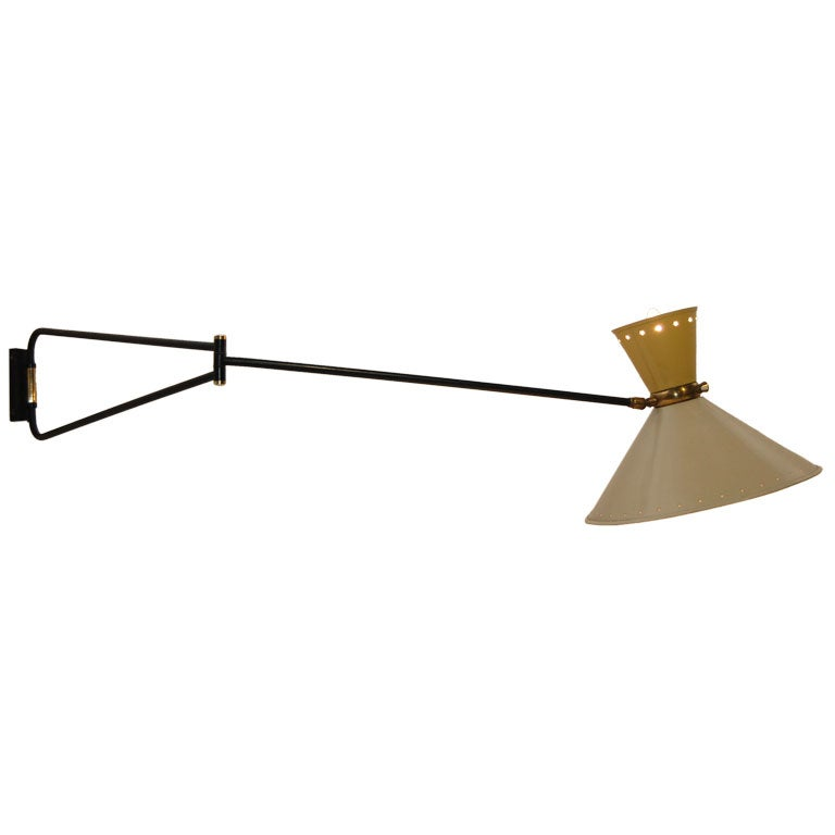 French Multi Directional Jib Lamp At 1stdibs