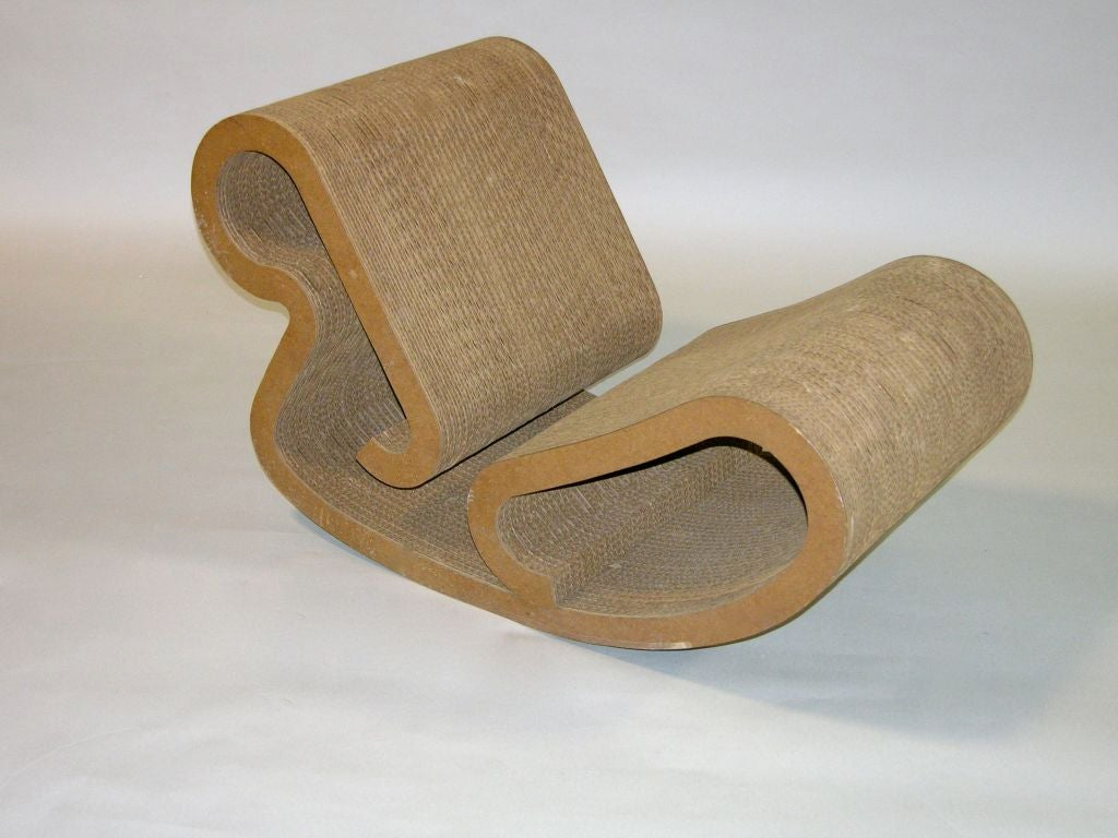 Frank Gehry Easy Edges Rocking Chair At 1stdibs