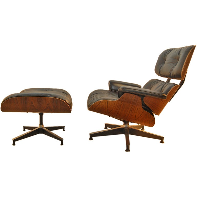 charles eames 670 lounge chair and ottoman at 1stdibs