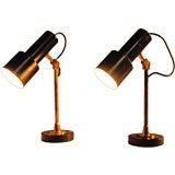PAIR OF STILNOVO BEDSIDE OR DESK LAMPS