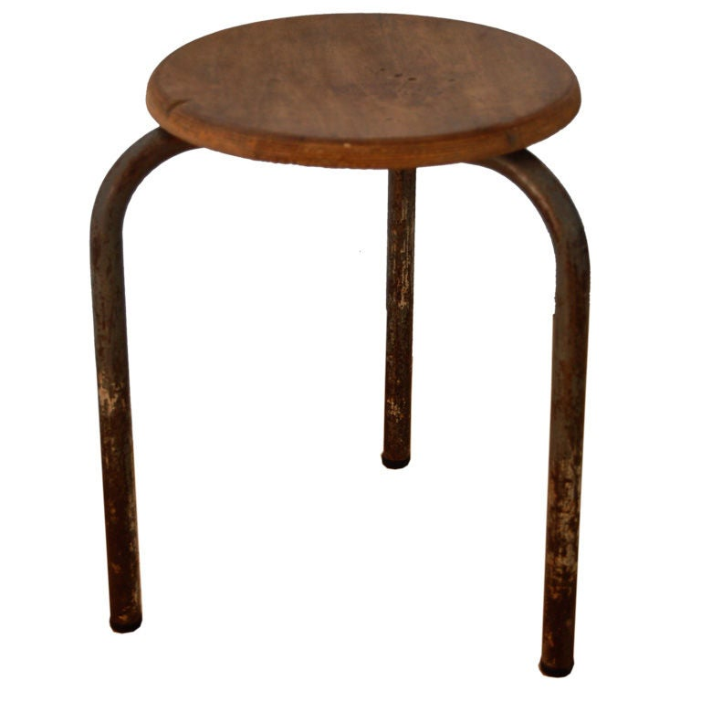 Jean Prouve 3 Legged Stool At 1stdibs
