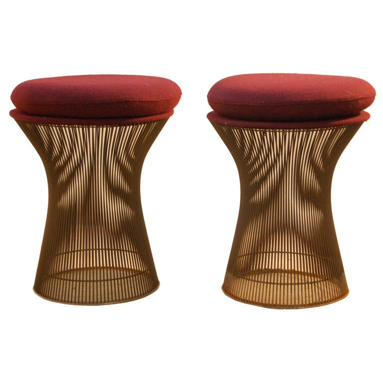 Warren Platner Pair Of Stools At 1stdibs