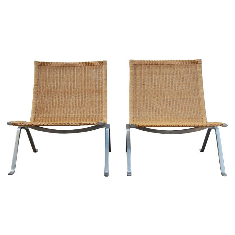 Poul Kjaerholm Pair Of PK22 Chairs At 1stdibs