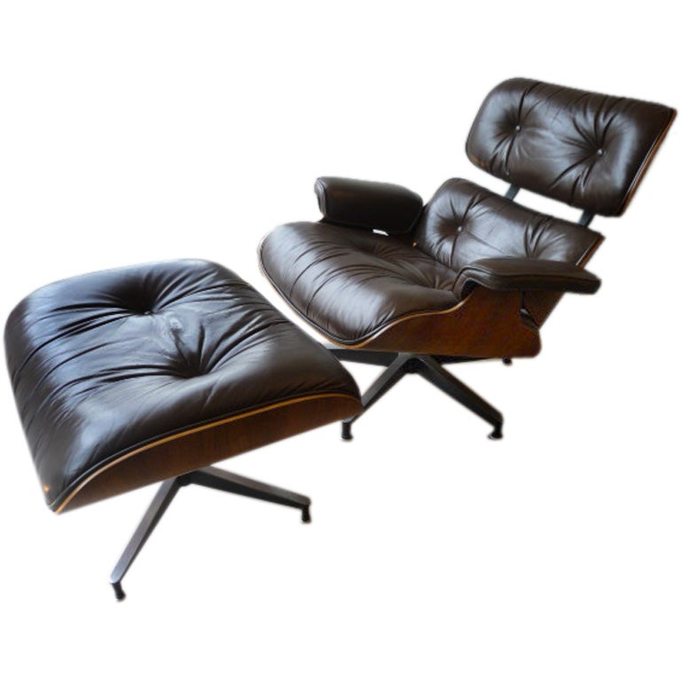 Charles eames lounge chair and ottoman at 1stdibs - Eames chaise lounge chair ...