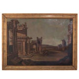 Classical Ruins - Oil on Canvas