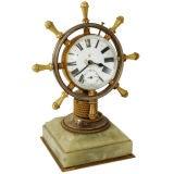 Edwardian Ship's Wheel Ball Clock