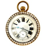 Large Ball clock with paste surround c.1900