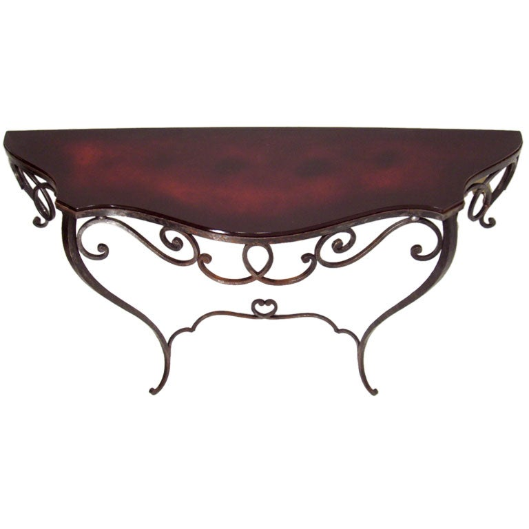 Wrought Iron French Console Table At 1stdibs