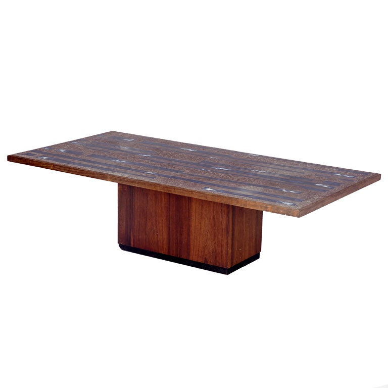 Copper Resin And Wood Coffee Centre Table At 1stdibs