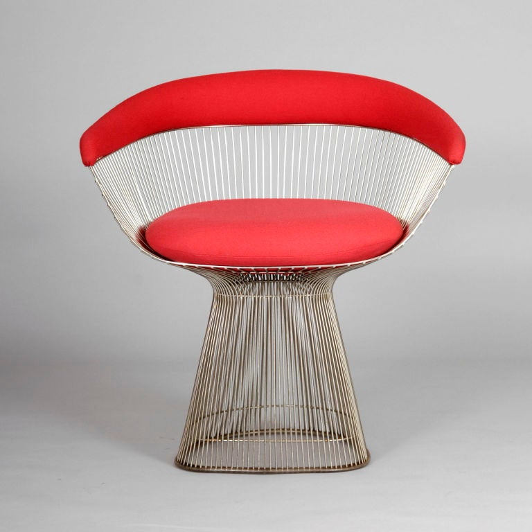 Pair Of Original Warren Platner Dining Chairs For Knoll At