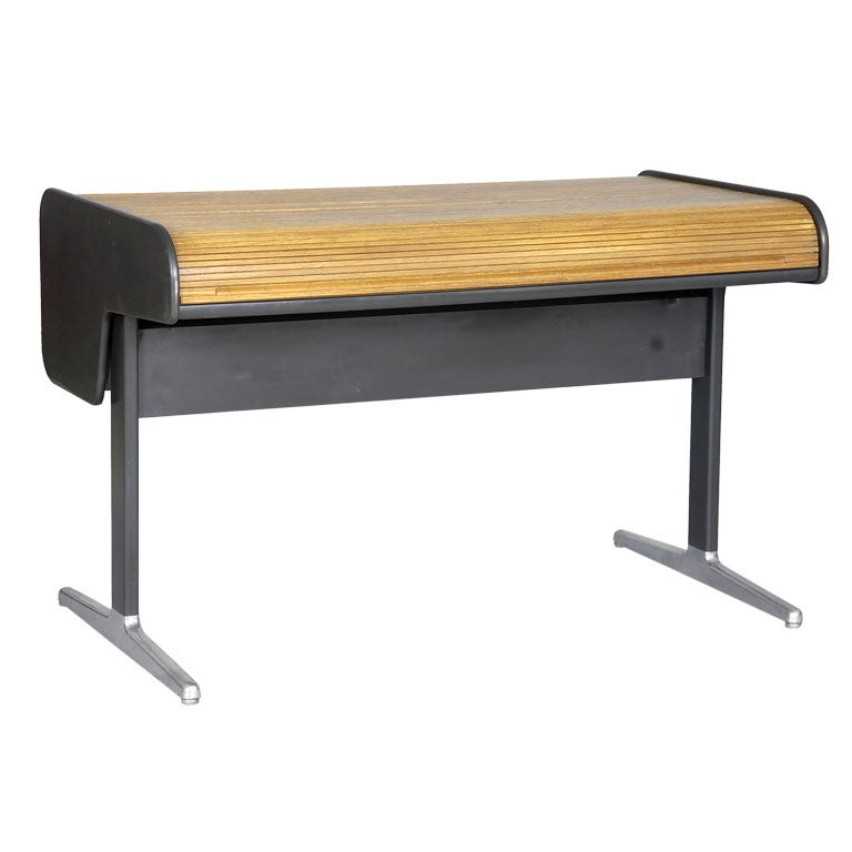 Roll-Top Tambour Desk by George Nelson for Herman Miller 1