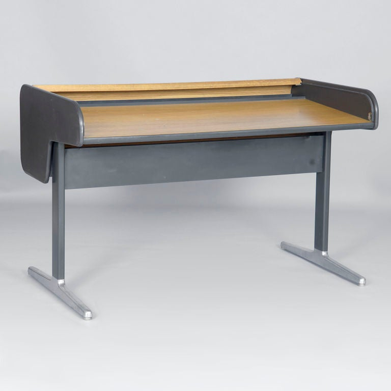 Roll-Top Tambour Desk by George Nelson for Herman Miller image 3