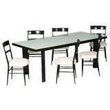 Set of 6 Chairs and Table Designed by Joaquim Tenreiro