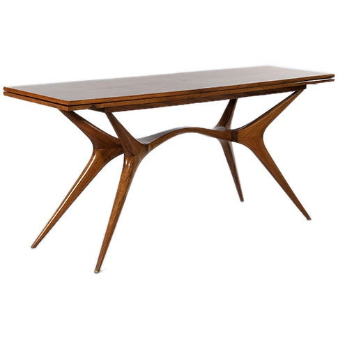 caviuna rosewood console dining table by giuseppe scapinelli at