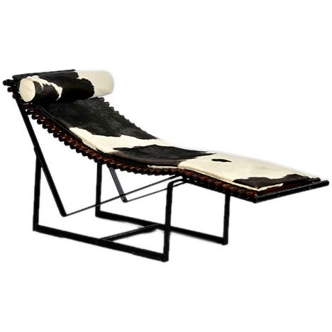 cow hide day bed at 1stdibs. Black Bedroom Furniture Sets. Home Design Ideas