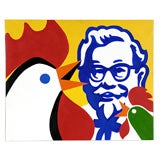 """Chicken Farm"" by Antonio De Felipe (Oil on canvas) Spain 1998"