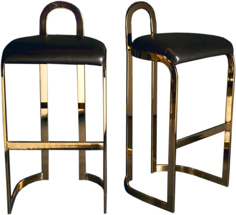 A Pair of Bar Stools designed by Pierre Cardin dated 1986 For Sale
