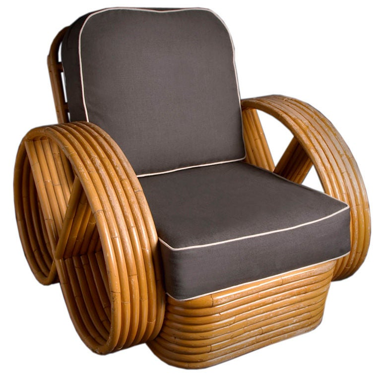 1940s Bamboo Easy Chair at 1stdibs