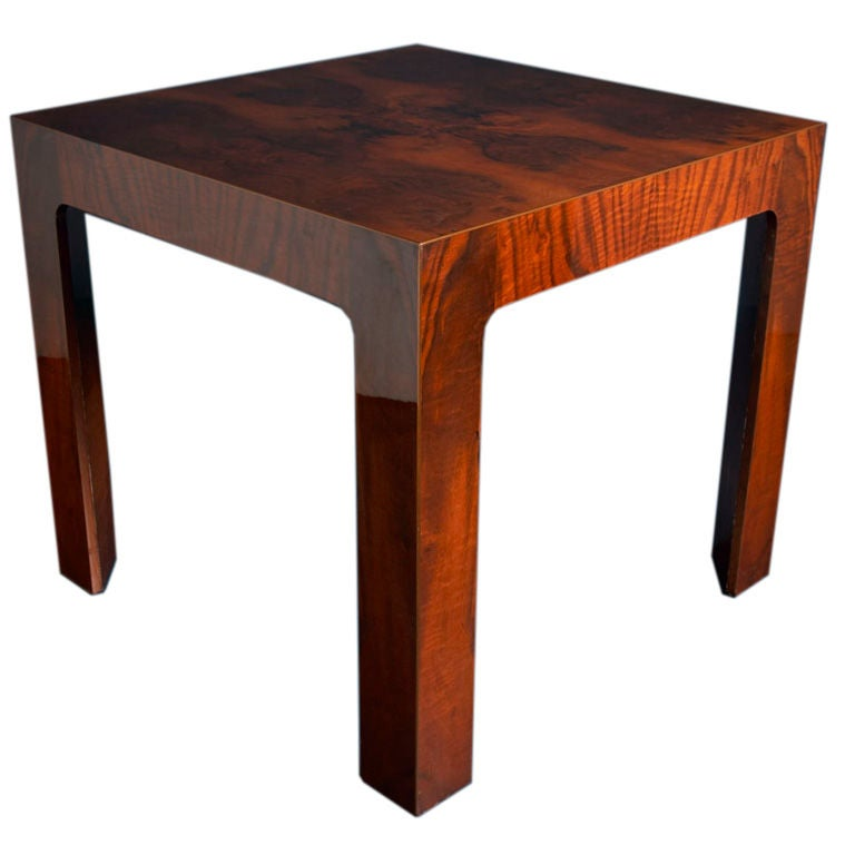 A High Lacquer And Wood Veneer Card Table 1