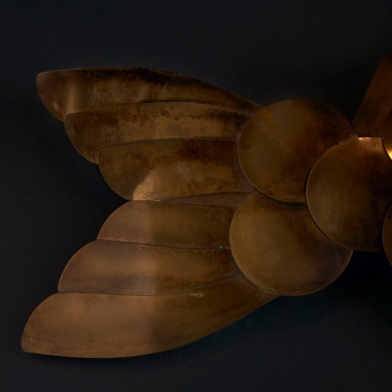 A Metal Wall Sculpture of a Carp Fish designed by Curtis Jere image 4