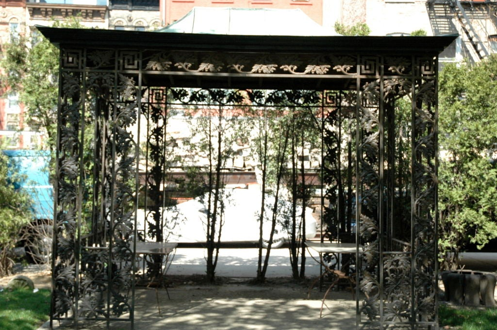 Cast Iron Gazebo For Sale. Recreation of a gazebo removed from the Walter  Jennings estate in Cold Springs Harbor, New - Cast Iron Gazebo For Sale At 1stdibs
