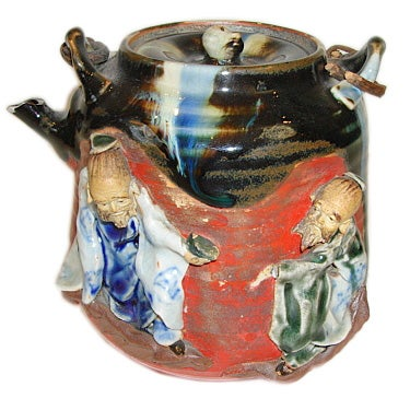 Sumida Gawa Pottery Pieces Teapot Without Lid At 1stdibs