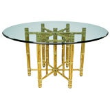 Large Reeded Bamboo Table Base From McGuire