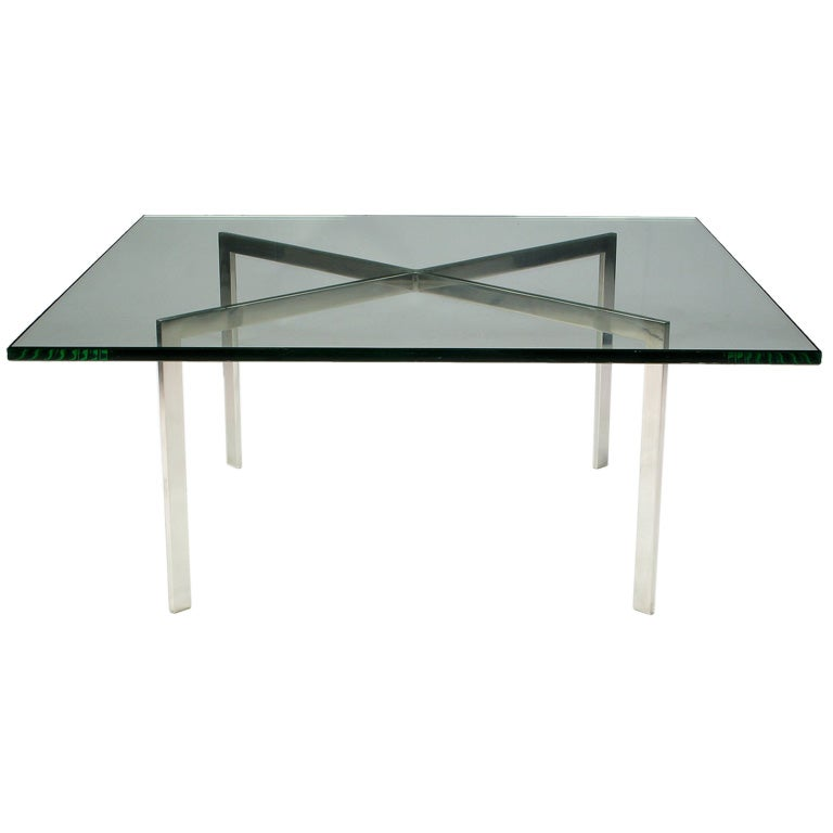 Barcelona Coffee Table Designed By Ludwig Mies Van Der Rohe At 1stdibs