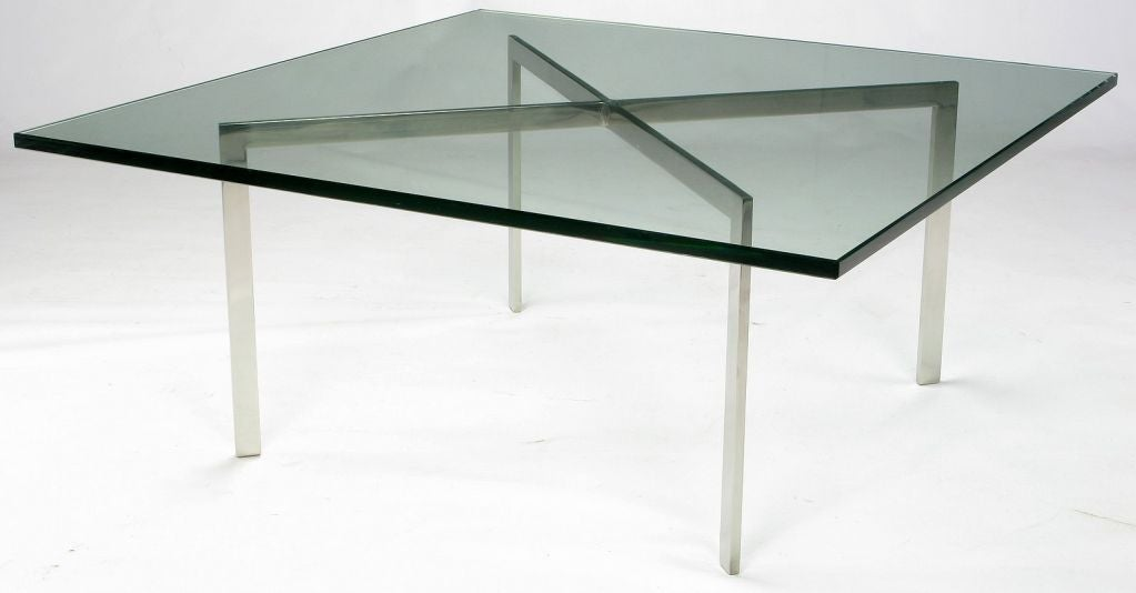 barcelona coffee table designed by ludwig mies van der. Black Bedroom Furniture Sets. Home Design Ideas