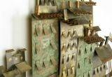 C. Jere Patinated Brass Mediterranean  Village Scene image 2