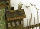 C. Jere Patinated Brass Mediterranean  Village Scene image 3