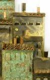 C. Jere Patinated Brass Mediterranean  Village Scene image 4